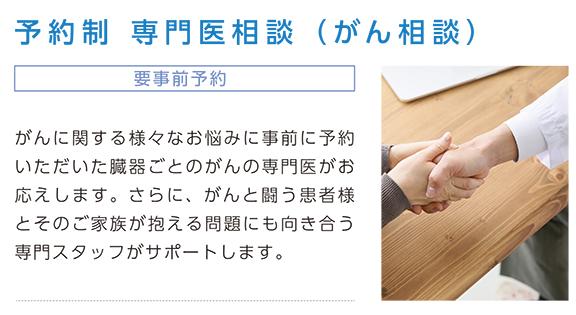 電予約制 専門医相談(がん相談)